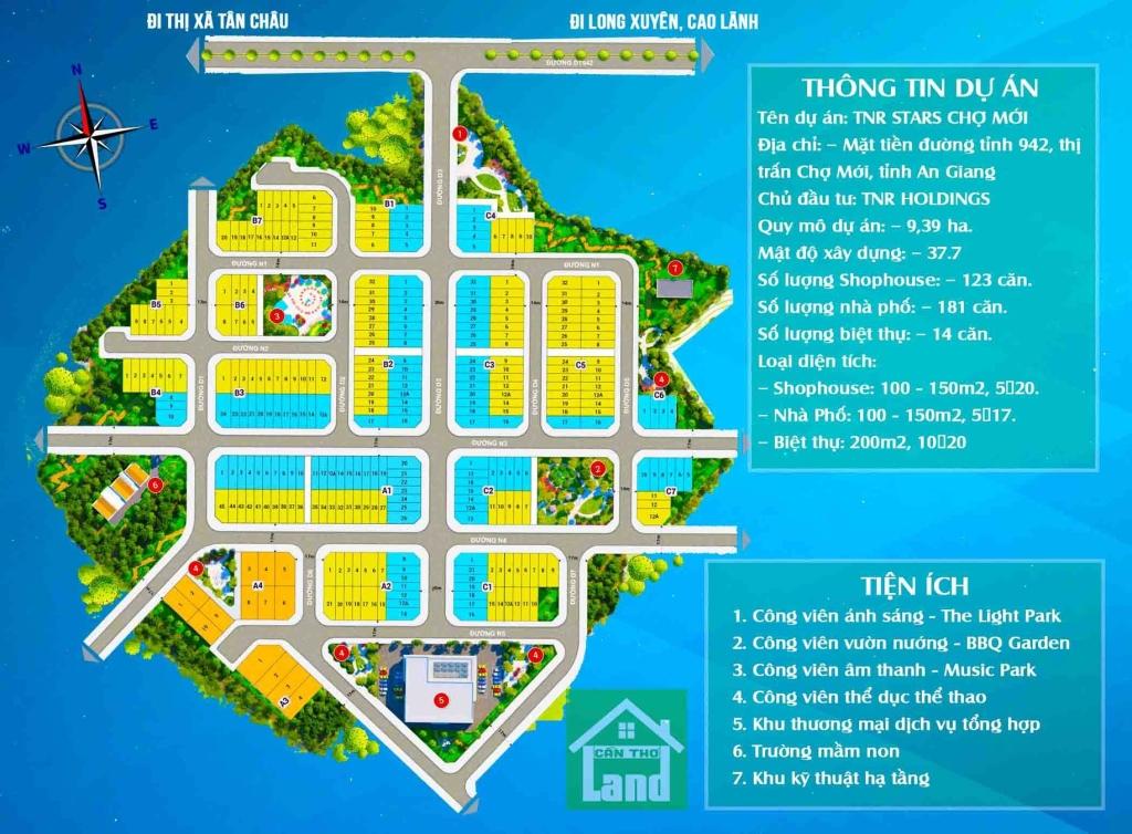 bản đồ dự án TNR Stars Chợ Mới An Giang
