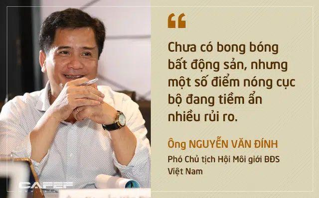 Ông Nguyễn Văn Đính xác nhận chưa có bong bóng đất nền