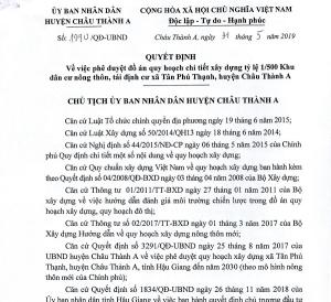 1/500 Dự án KDC Tân Phú Thạnh